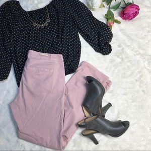 {Anthro}  Pilcro the Letterpress Blush Pink Pants